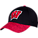 Front view of Top Of The World Wisconsin Badgers College Lightspeed Flex Fit Hat in Team Colors
