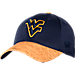 Front view of Top Of The World West Virginia Mountaineers College Lightspeed Flex Fit Hat in Team Colors
