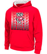 Kids' Stadium Wisconsin Badgers College Pullover Hoodie