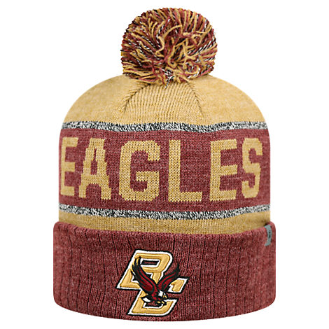Top of the World Boston College Eagles College Below Zero Cuffed Pom Knit Hat