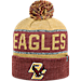 Front view of Top of the World Boston College Eagles College Below Zero Cuffed Pom Knit Hat in Team Colors