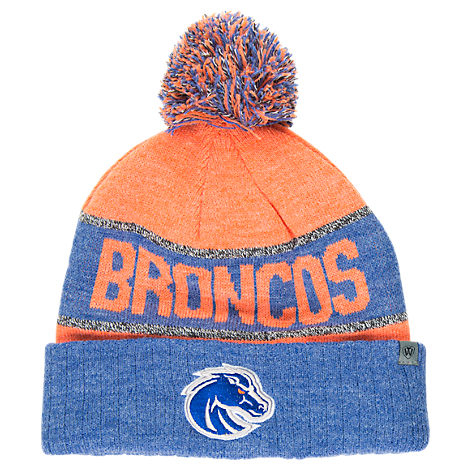 Top of the World Boise State Broncos College Below Zero Cuffed Pom Knit Hat
