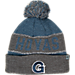 Front view of Top of the World Georgetown Hoyas College Below Zero Cuffed Pom Knit Hat in Team Colors