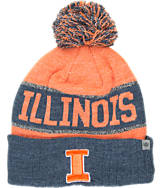 Top of the World Illinois Fighting Illini College Below Zero Cuffed Pom Knit Hat