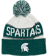 Top of the World Michigan State Spartans College Below Zero Cuffed Pom Knit Hat