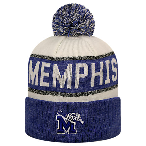 Top of the World Memphis Tigers College Below Zero Cuffed Pom Knit Hat