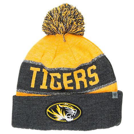 Top of the World Missouri Tigers College Below Zero Cuffed Pom Knit Hat