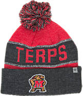 Top of the World Maryland Terrapins College Below Zero Cuffed Pom Knit Hat
