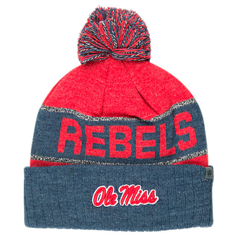 Top of the World Mississippi Rebels College Below Zero Cuffed Pom Knit Hat