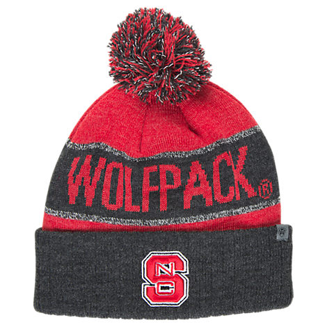 Top of the World NC State Wolfpack College Below Zero Cuffed Pom Knit Hat