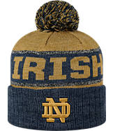 Top of the World Notre Dame Fighting Irish College Below Zero Cuffed Pom Knit Hat