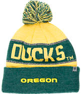 Top of the World Oregon Ducks College Below Zero Cuffed Pom Knit Hat
