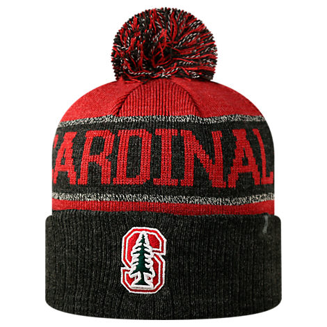Top of the World Stanford Cardinals College Below Zero Cuffed Pom Knit Hat