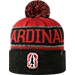 Front view of Top of the World Stanford Cardinals College Below Zero Cuffed Pom Knit Hat in Team Colors