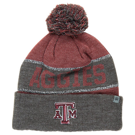 Top of the World Texas A & M Aggies College Below Zero Cuffed Pom Knit Hat