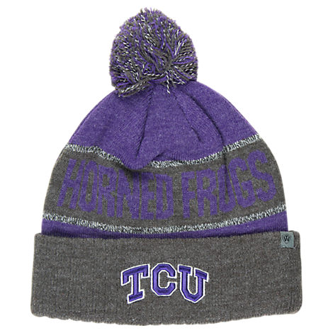 Top of the World TCU Horned Frogs College Below Zero Cuffed Pom Knit Hat