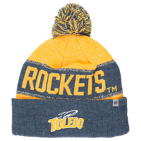 Top of the World Toledo Rockets College Below Zero Cuffed Pom Knit Hat