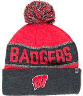 Top of the World Wisconsin Badgers College Below Zero Cuffed Pom Knit Hat