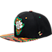 Front view of Zephyr Clemson Tigers College Zukente Snapback Hat in Team Colors