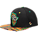 Front view of Zephyr Georgia Tech Yellow Jackets College Zukente Snapback Hat in Team Colors
