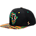 Front view of Zephyr Illinois Fighting Illini College Zukente Snapback Hat in Team Colors