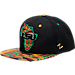 Front view of Zephyr LSU Tigers College Zukente Snapback Hat in Team Colors