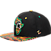 Front view of Zephyr Michigan State Spartans College Zukente Snapback Hat in Team Colors