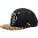 Front view of Zephyr Miami Hurricanes College Zukente Snapback Hat in Team Colors