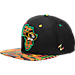 Front view of Zephyr Missouri Tigers College Zukente Snapback Hat in Team Colors