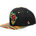 Front view of Zephyr Maryland Terrapins College Zukente Snapback Hat in Team Colors