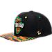 Front view of Zephyr Toledo Rockets College Zukente Snapback Hat in Team Colors