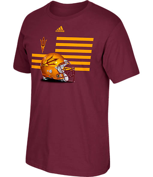 Men's adidas Arizona State Sun Devils College Over the Top T-Shirt