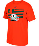 Men's adidas Miami Hurricanes College Over the Top T-Shirt
