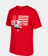 Men's adidas North Carolina State Wolfpack College Over the Top T-Shirt