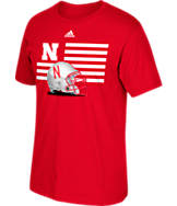 Men's adidas Nebraska Cornhuskers College Over the Top T-Shirt