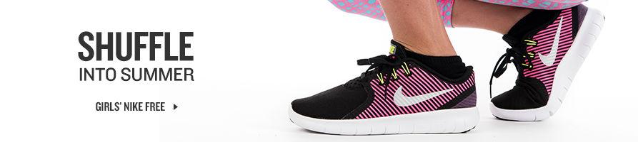 Shuffle Into Summer. Shop Girls' Nike Free.