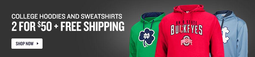 $29.99 + Free Shipping College Hoodies and Sweatshirts.