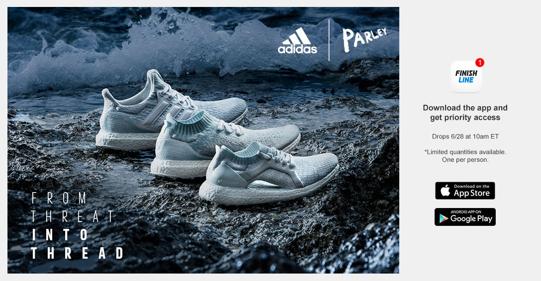 adidas Parley. Download the App for Exclusive Access.