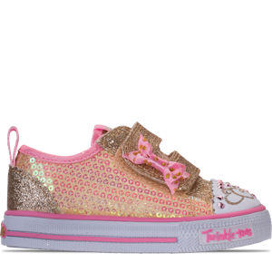 Girls' Toddler Skechers Twinkle Toes: Shuffles Itsy Bitsy Light-Up Casual Sneakers Product Image