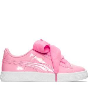 Girls' Preschool Puma Basket Heart Casual Shoes Product Image