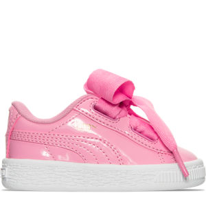 Girls' Toddler Puma Basket Heart Casual Shoes Product Image