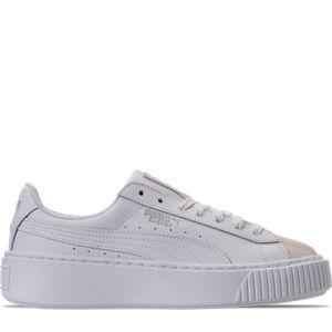 Girls' Grade School Puma Basket Platform Glitz Casual Shoes Product Image