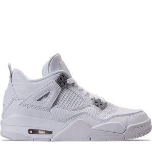 Boys' Grade School Air Jordan Retro 4 Basketball Shoes Product Image