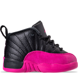Girls' Toddler Air Jordan Retro 12 Basketball Shoes Product Image
