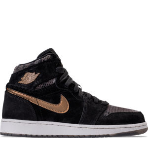 Girls' Grade School Air Jordan Retro 1 High Premium Heiress Collection (3.5y - 9.5y) Basketball Shoes Product Image