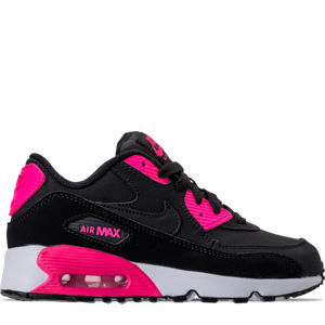 Girls' Preschool Nike Air Max 90 Leather Running Shoes Product Image