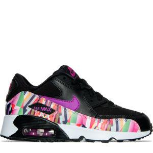 Girls' Preschool Nike Air Max 90 SE Mesh Running Shoes Product Image