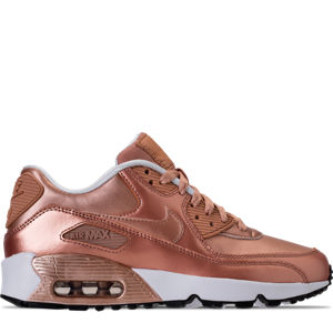 Girls' Grade School Nike Air Max 90 SE Leather Running Shoes Product Image