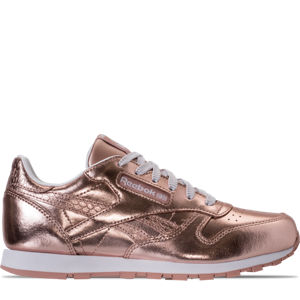 Girls' Grade School Reebok Classic Leather Metallic Casual Shoes Product Image