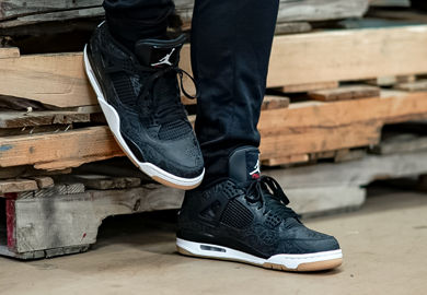 The Air Jordan Retro 4 'Black Laser' Starts The 30th Anniversary Of The Historic Model